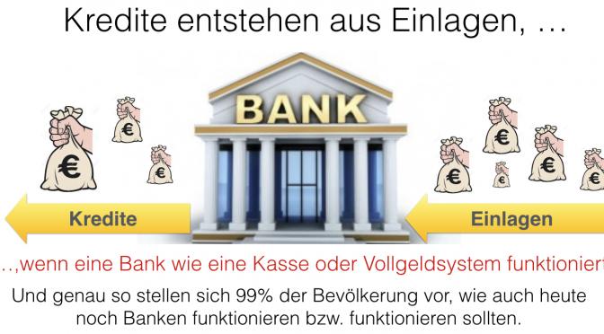 Kredite entstehen aus Einlagen