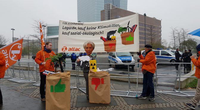 """""""EZB-Anleihenkauf: Lagarde, kauf keine Klimakiller, kauf sozial-ökologisch!"""""""